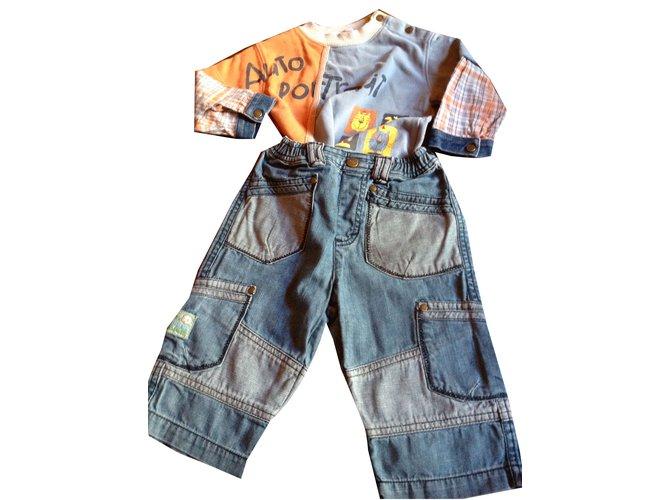Autre Marque Outfits Outfits Cotton Beige ref.45465