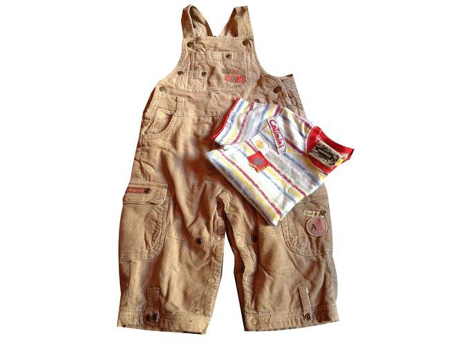 Les ensembles garçon Autre Marque T-shirt Coton Caramel ref.45466