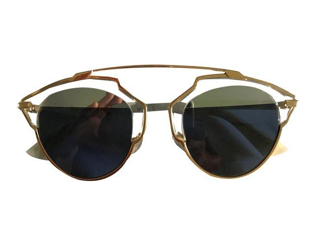 ad87e273e2eb Christian Dior Dior so real Sunglasses Metal White ref.45535 - Joli ...