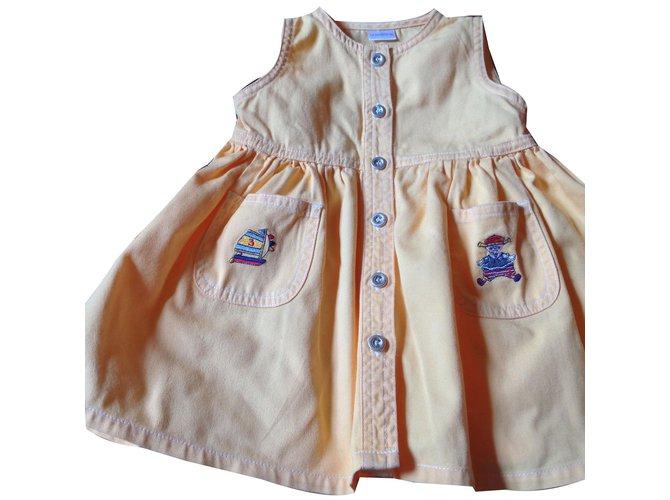 Robes fille Autre Marque Robes Coton Jaune ref.45630