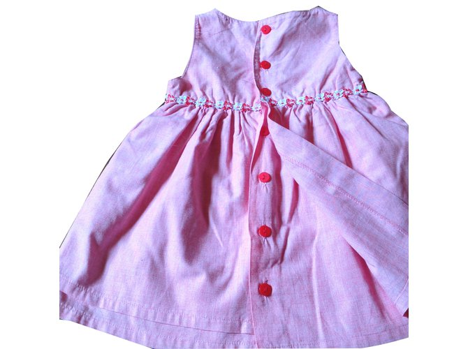 Robes fille Autre Marque Robes Coton Rose ref.45631