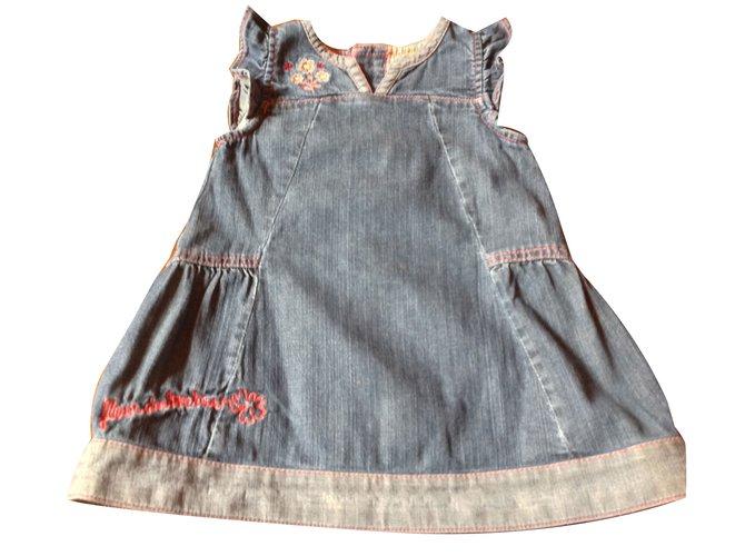 Robes fille Autre Marque Robes Jean Bleu Marine ref.45633