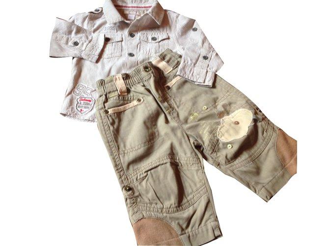 Autre Marque Outfit Outfits Cotton Khaki ref.45634