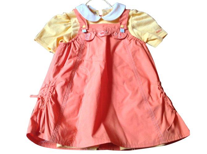 Robes fille Autre Marque Robes Coton Orange ref.45637