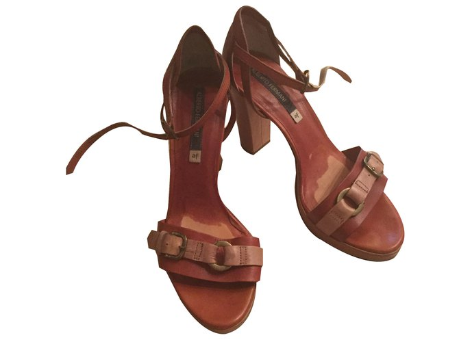 Alberto Fermani Sandals Chocolate Leather  ref.45639
