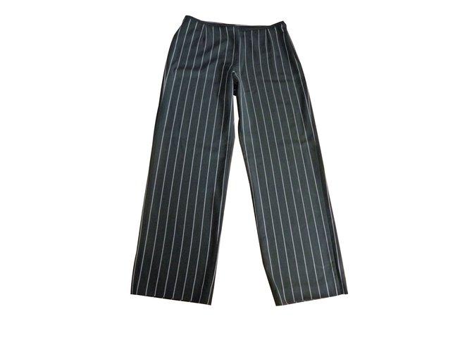 97e1fbb12d6c Pantalons Armani Pantalon armani collezioni Laine Noir ref.45645 ...