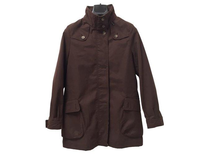 Blousons, manteaux filles Burberry Blousons Coton Marron ref.45724