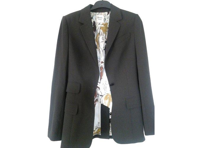 Vestes Hermès Veste blazer Laine Gris ref.49148 - Joli Closet 1eb5d819f93