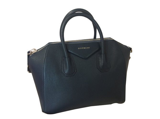 Givenchy Hand bags Handbags Leather Blue ref.45861