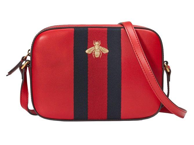 Pochettes Gucci Sac à bandoulière Cuir Rouge ref.46071