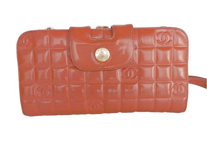 0b47ea6b8c3843 Chanel Purse, wallet,case Purses, wallets, cases Patent leather Brown,Pink