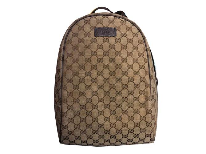 Gucci Backpack Backpacks Other Brown ref.46213 - Joli Closet 76a1593c10f9b