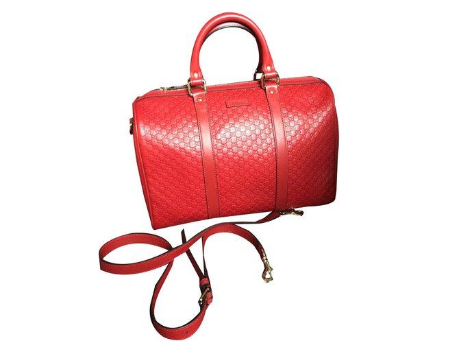 30a11d9d97bf55 Gucci Handbag Handbags Leather Red ref.46242 - Joli Closet