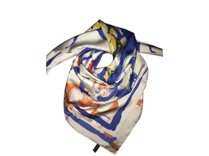 Chanel Scarves Scarves Silk Multiple colors ref.46264