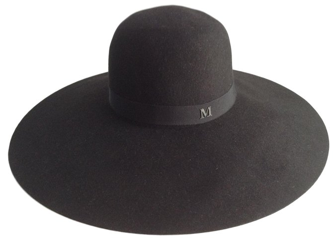 Maison Michel Hats Hats Rabbit Black ref.46373