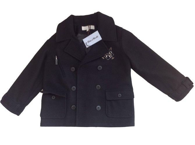 Tartine et Chocolat Boy Coats Outerwear Boy Coats Outerwear Wool Black ref.46461