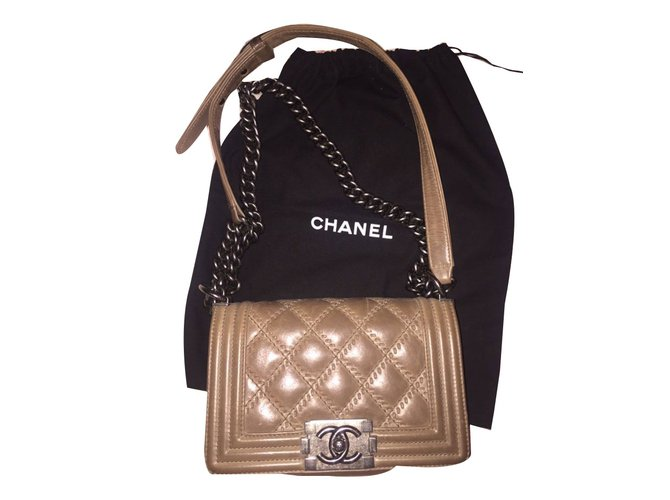 Sacs à main Chanel Boy Cuir marron clair ref.46832