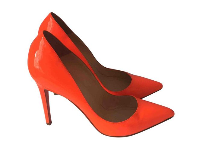 39911cf4884 Christian Louboutin Heels Heels Patent leather Orange ref.46837 ...