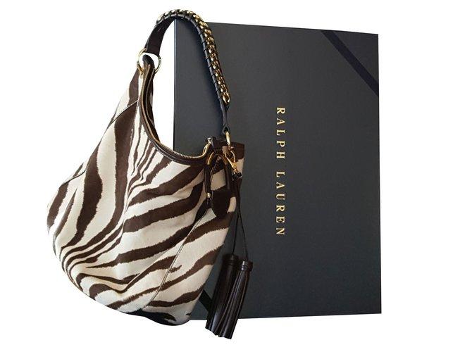 777a5c40c7 Ralph Lauren zebra pony Handbags Pony hair Multiple colors ref.46895 ...