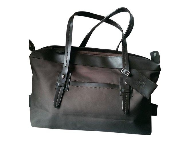 Gianfranco Ferré Handbags Polyester Dark Brown Ref 46927
