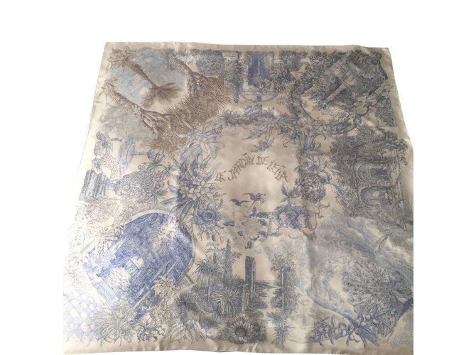 Hermes Le Jardin De Leila Silk Scarves Silk Other Ref 46966