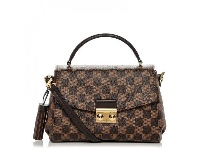 Sacs à main Louis Vuitton Croisette Cuir Marron ref.47027