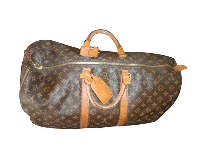396e113ff1ad Sacs de voyage Louis Vuitton keepall 55 VINTAGE Synthétique Multicolore  ref.47060