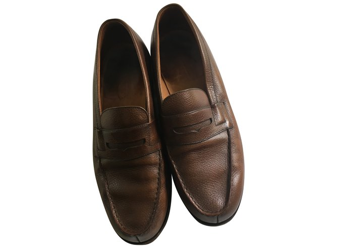 mocassins homme jm weston mocassin 180 cuir veau box marron cuir vernis marron joli. Black Bedroom Furniture Sets. Home Design Ideas