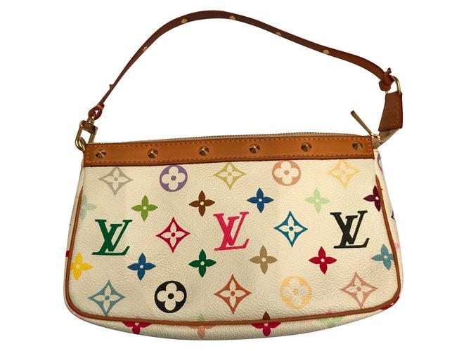 5bc1f0a9bcf0 Louis Vuitton Pochette Murakami Handbags Leather Multiple colors ref.47260