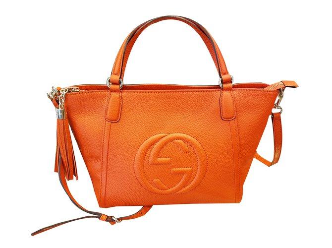 8e792d26e Gucci borsa soho Handbags Leather Orange ref.47313 - Joli Closet