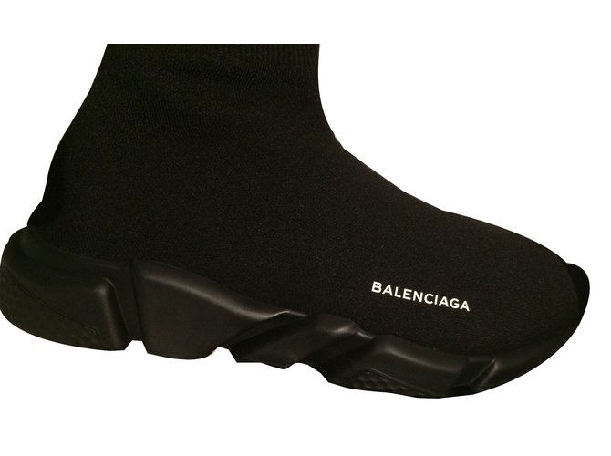 Baskets homme Balenciaga Speed Synthétique Noir ref.47325