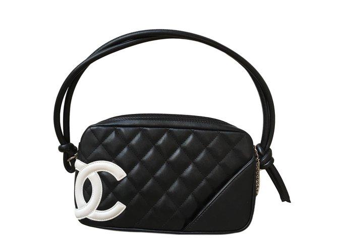 644a7430f22 Sacs à main Chanel Sacs à main Cambon Cuir Noir ref.47475 - Joli Closet