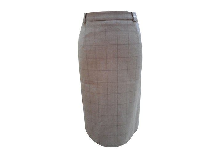 Burberry Skirts Skirts Cashmere,Wool Beige ref.47527