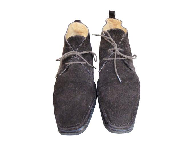 Hermès Ankle Boots Ankle Boots Deerskin Brown ref.47789