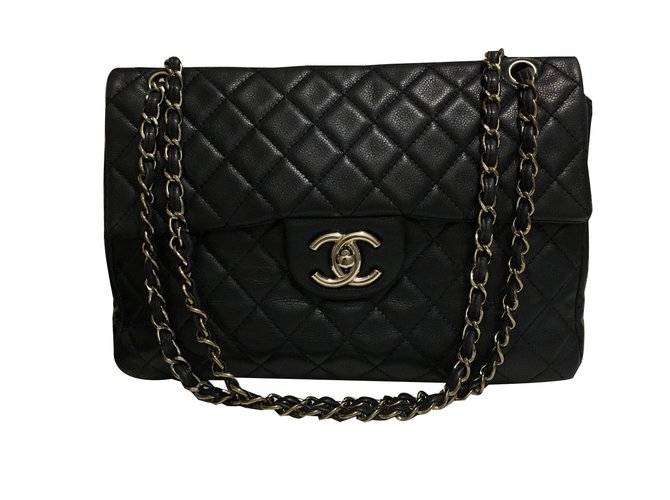 2e0c41c5e7ec Chanel Maxi classic flap bag Handbags Leather Navy blue ref.47854 ...