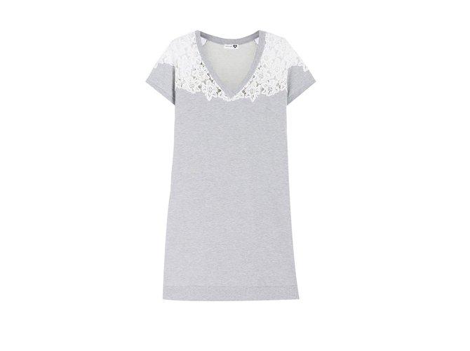Autre Marque Dresses Grey Cotton Polyester  ref.47862