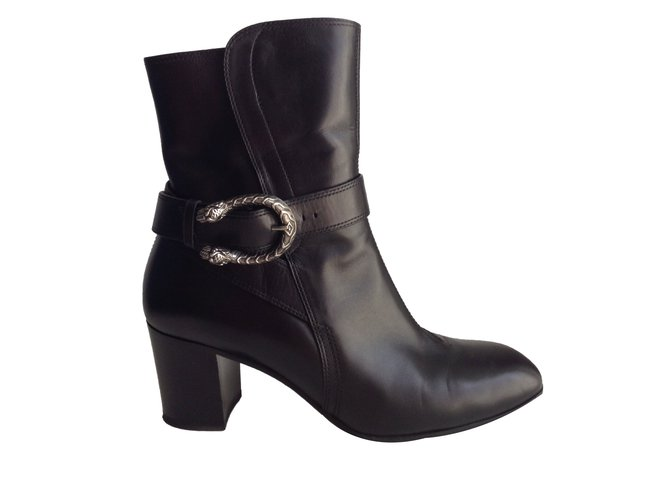 4974db2a115 Gucci Ankle Boots Ankle Boots Leather Black ref.47883 - Joli Closet