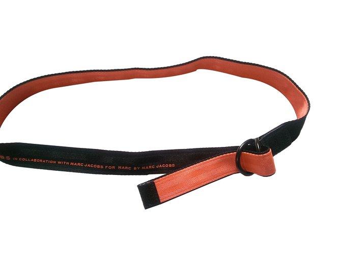 Marc by Marc Jacobs Belts Belts Leather,Cloth Black,Orange ref.47904