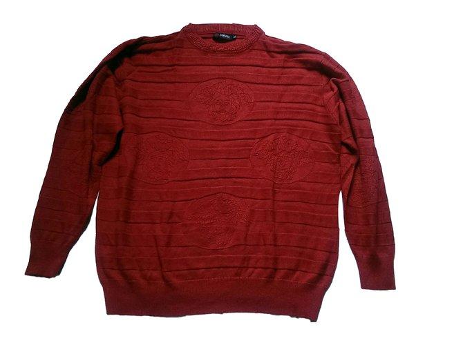 Gilet laine rouge homme