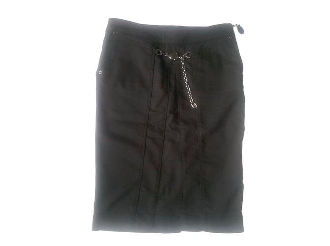 Jupes Gucci Jupes Coton,Elasthane,Rayon Noir ref.47934