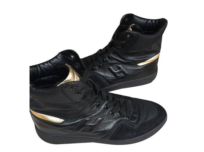 Baskets Hogan Basket montante Cuir Noir ref.47961 - Joli Closet b2b11dd0be15