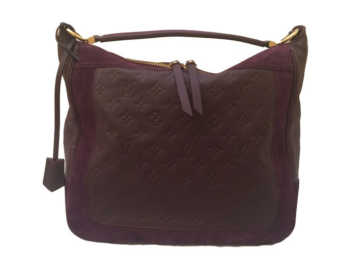 3bf6bd9a9965 Louis Vuitton Louis Vuitton Audacieuse MM Monogram Empreinte Handbags  Leather Purple ref.48042