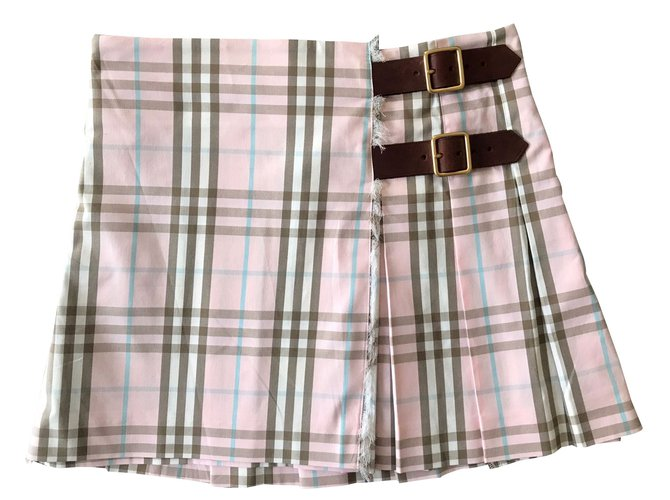 Burberry Skirt Skirts Cotton,Nylon Black,Pink,White,Blue ref.48050