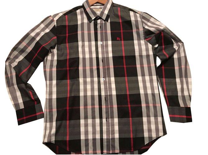 c93de49b3cd3 Chemises Burberry Chemise Burberry XL neuve ! Coton Noir,Blanc,Rouge  ref.48051