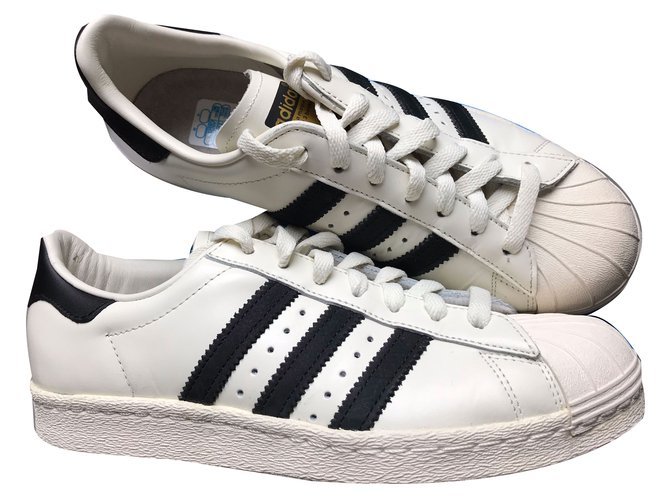 a620186f547 Adidas Superstar 80s DLX Sneakers Leather White ref.48099 - Joli Closet