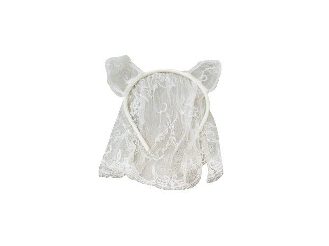 Maison Michel Hats Hats Lace White ref.48141