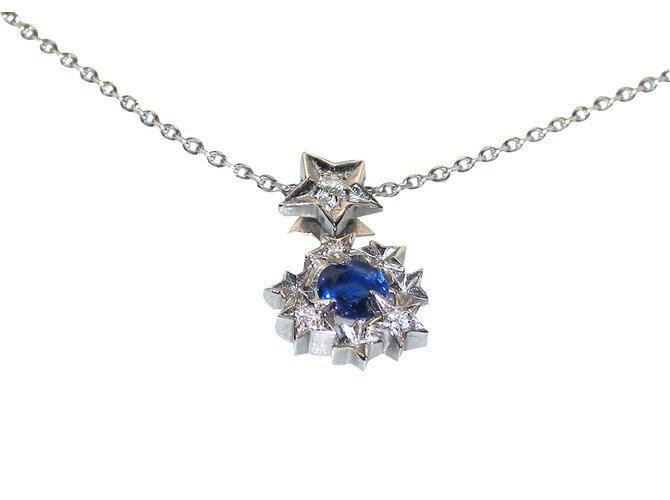 Chanel pendant necklaces pendant necklaces white goldother blue ref chanel pendant necklaces pendant necklaces white goldother blue ref48148 aloadofball Choice Image