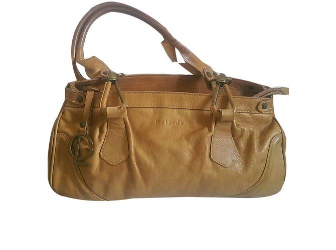 Guy Laroche Handbags Leather Brown Ref 48159