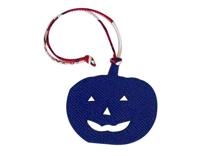Bijoux de sac Hermès Charm Halloween Petit h Hermès Cuir Multicolore ref.48160