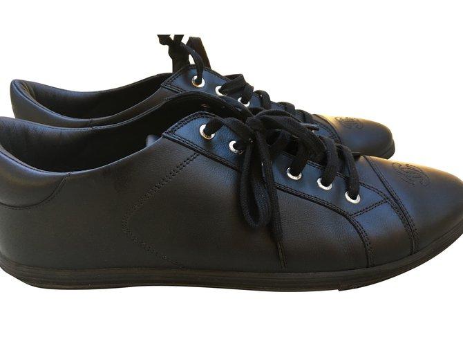 Baskets homme Chanel Baskets Chanel Uniform Cuir Noir ref.48360 ... fab7a927f0f